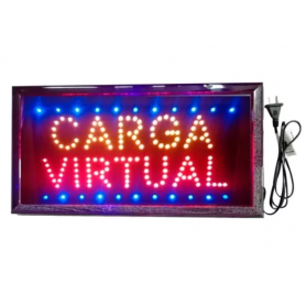 "Cartel LED ""CARGA VIRTUAL"" 48x25"