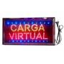 "Cartel LED ""CARGA VIRTUAL"" 48x25"