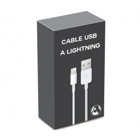 Cable USB A-M a lightning -M (Iphone 5/12) en Caja (alta calidad)