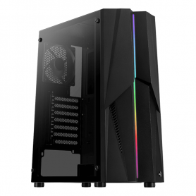 Gabinete Gamer RGB Aerocool Mecha con ventilador RGB / Mid Tower