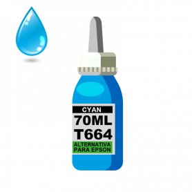 Tinta cian p / EPSON 70 ml alternativa linea *T664*
