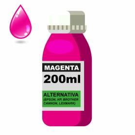 Tinta Universal x 200ML Magenta (EPSON, HP, BROTHER, CANON, LEXMARK)