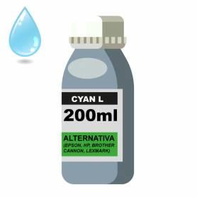 Tinta Universal x 200ML Light Cyan (EPSON, HP, BROTHER, CANON, LEXMARK)
