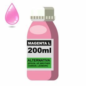 Tinta Universal x 200ML Light Magenta (EPSON, HP, BROTHER, CANON, LEXMARK)