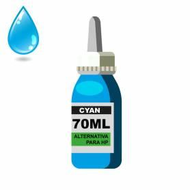 Tinta cian para HP 70 ml alternativa