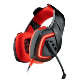 Auricular Gamer  ST-8220 Noganet Stormer, conector 3.5 TRRS, Rojo