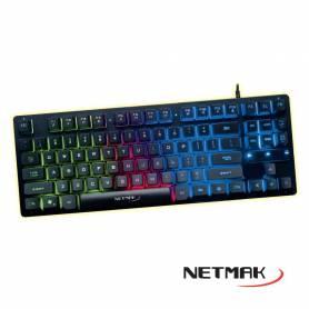 Teclado Gamer NETMAK DARK Compacto, retroiluminado NM-DARK