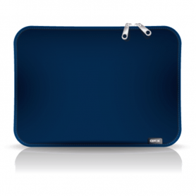 "Funda para notebook de Neoprene CdTek 15,6"" Azul Lisa"