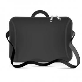 """Funda tipo maletin para notebook de Neoprene CdTek 14""""/15,6"""" Negro (con manija y correa)"""