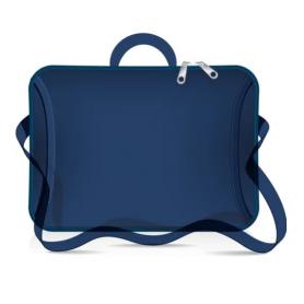 """Funda tipo maletín para notebook de Neoprene CdTek 14""""/15,6"""" Azul (con manija y correa)"""