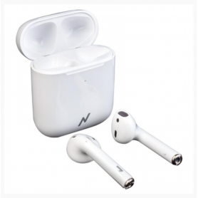 Auricular Bluetooth Noga NG-BTWINS 5S+(Touch control/Wireless Charging) - Blancos -