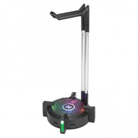 Base para Auriculares - Noga ST-HB1con HUB de 4 puertos USB