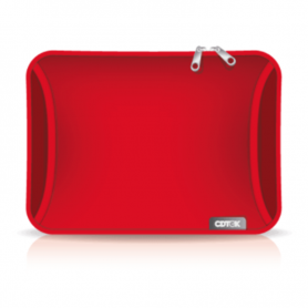 "Funda p/notebook *Con bolsillo* de Neoprene  CdTek 14"" Rojo lisa"