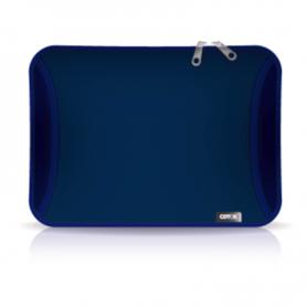 "Funda p/notebook *Con bolsillo* de Neoprene  CdTek 15"" Azul lisa"