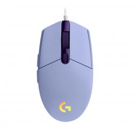 Mouse Gamer Logitech G203 LIGHTSYNC USB Lilac