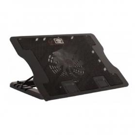 """Base para notebook Cooling Pad 638b con cooler enfriador / hasta 17"""""""