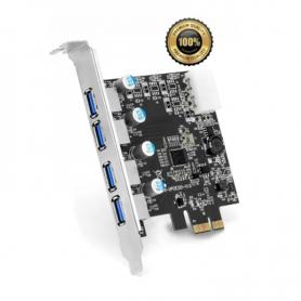 Placa PCI Express USB 3.0 de 4 puertos Noga USB-304