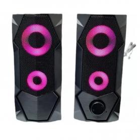 Parlante Noga NG-301P, USB 2.0 - Multimedia - Led colors