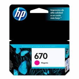Cartucho  HP 670  original de tinta magenta