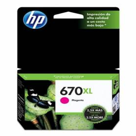 Cartucho  HP 670 xl original de tinta magenta