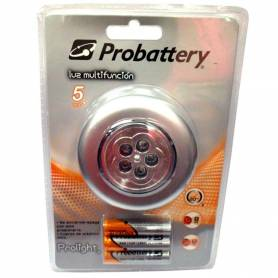 Linterna 5 LED multifuncion PROBATTERY IE-BP5-BPB