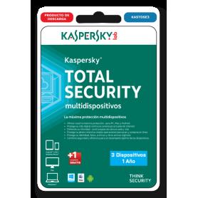 Kaspersky Total Security 3 dispositivos KASTOSE3