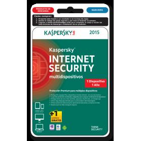 Kaspersky Internet  Security 1 dispositivo KAS15IS1