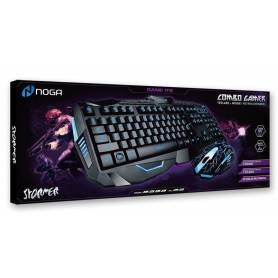 Teclado y Mouse Noganet Gamer IT2 retroiluminados