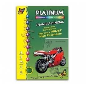 Transparencia Platinum para impresoras ink jet x 10 hojas