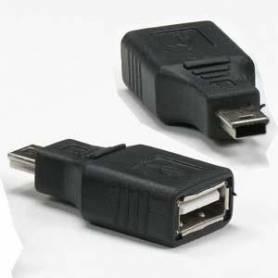 Adaptador OTG de mini USB-M a USB-H
