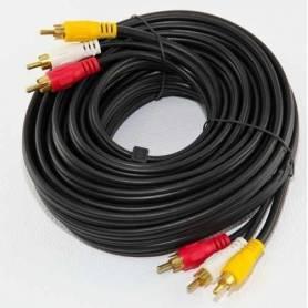 Cable  A/V de RCA a 3 RCA 7 mts