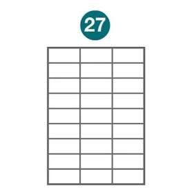 Etiquetas autoadhesivas A4 2011 JETLABEL 70,00 x 33,00 MM