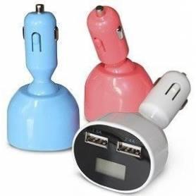 Adaptador de 12V / 24V a 2 USB de 2A