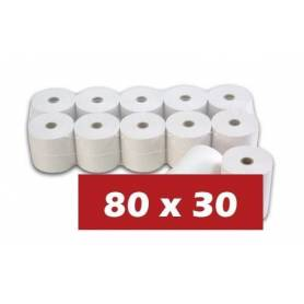 Papel Termico 80x30 Pack 10 unidades
