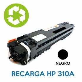 Recarga de toner HP CE310A 126A NEGRO