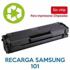 Recarga de toner SAMSUNG 101 sin chip MLT-D101
