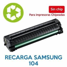 Recarga de toner SAMSUNG 104 sin chip MLT-D104