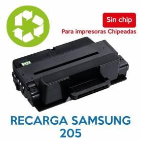 Recarga de toner SAMSUNG 205 sin chip MLT-D205
