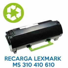 Recarga de toner LEXMARK MS310 410 610