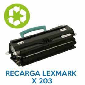 Recarga de toner LEXMARK X203