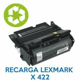 Recarga de toner LEXMARK X422