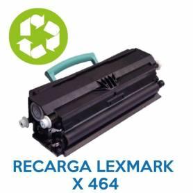 Recarga de toner LEXMARK X464