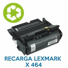 Recarga de toner LEXMARK X642