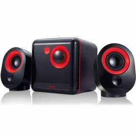 Parlantes 2.1 Noga ML-3300C BLACK / RED