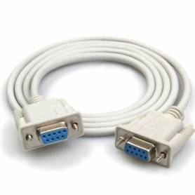 Cable serial de DB9H a DB9H p/ impre fiscal