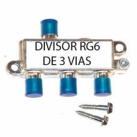 Divisor RG6 de 3 vias