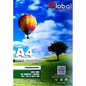 Papel Fotográfico Glossy A4 Brillante 200gr