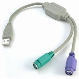 Adaptador de USB a  2 PS/2